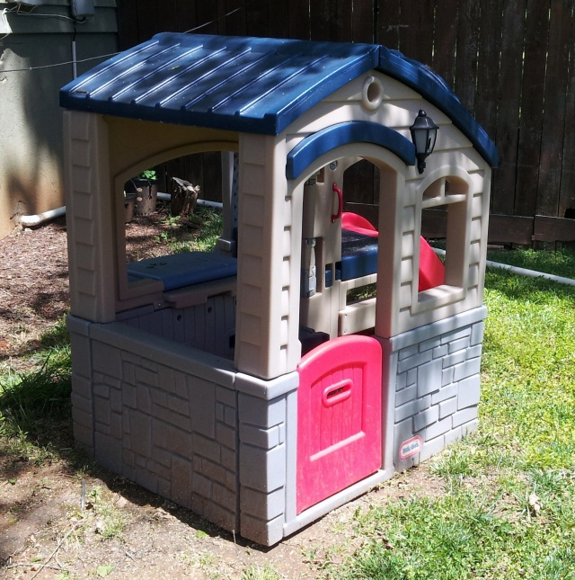 Wee Playhouse: A DIY Little Tikes Makeover And Sump Pump